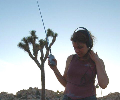 Sound Artist and SO! writer Maile Colbert recording in the field