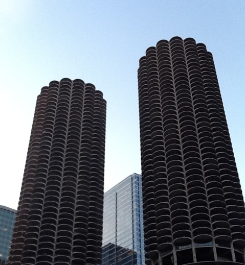 The Marina City Building in Chicago, photo by the author