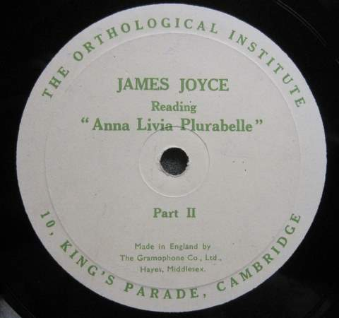 The label for side 2 of ALP gramophone recording (1929)