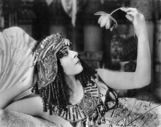 "Theda Bara in the title role of the film ""Cleopatra"" (1917) courtesy of the Orange County Archives"