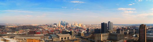 """Downtown from Top of Liberty2"" by Wikimedia user Hngrange"
