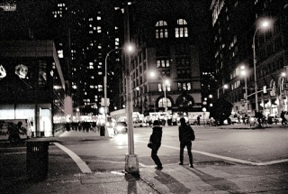 """New York City at Night"" by Flickr user Alyssa L. Miller under Creative Commons License 2.0"