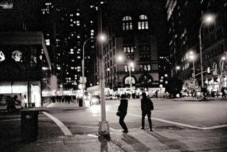 """New York City at Night"" by Flickr user Alyssa L. Miller under Creative Commons License 2.0"