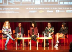 Panelists at Sounds of the City: The 2012 EMP Pop Conference on stage, Photo courtesy of Michael Weintrob and the EMP