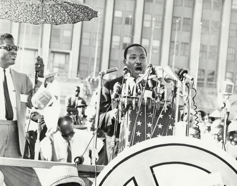 Martin Luther King in 1968, Image courtesy of UIC Digital Collections