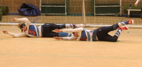 Goalball team practice at the ParalympicsGB Training Camp, Image by Flickr User The Department for Culture, Media and Sport