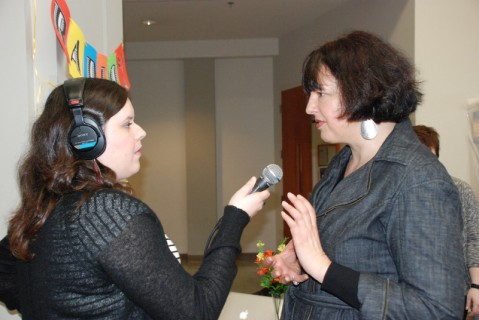 Featured Image: Monica De La Torre interviews J. Kehaulani Kauanui at the radio kiosk, No. 2, Women Who Rock 2011 conference, Seattle University Pigott Building, February 18, 2011, From the Women Who Rock Collection, University of Washington Libraries, Special Collections Division, University of Washington Digital Libraries.