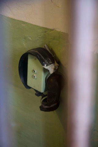 In Alcatraz, prisoners were allowed to listen to radio vis this two-channel device; image by Flickr user adrian8_8