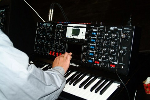 Minimoog Voyager Electric Blue, Image by Flickr User harald walker