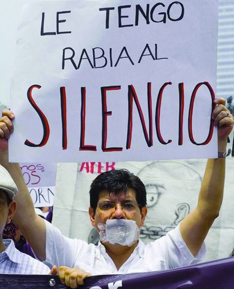 Journalists Protest against rising violence during march in Mexico City, Courtesy of the Knight Foundation