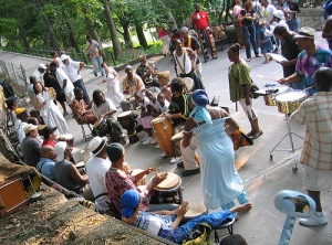 """Marcus Garvey Park Drum Circle, Harlem, NYC"" by Flickr user j-No, CC BY-NC-ND 2.0"