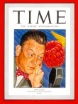 Fred Allen on the cover of Time, April 7, 1947. Art by Ernest Hamlin Baker.