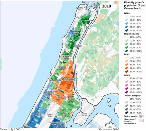 Manhattan above 110th Street 2010. Courtesy of the Center for Urban Research, CUNY Graduate Center