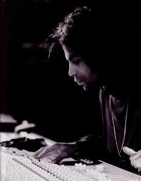 prince in recording studio