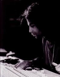 prince in recording studio