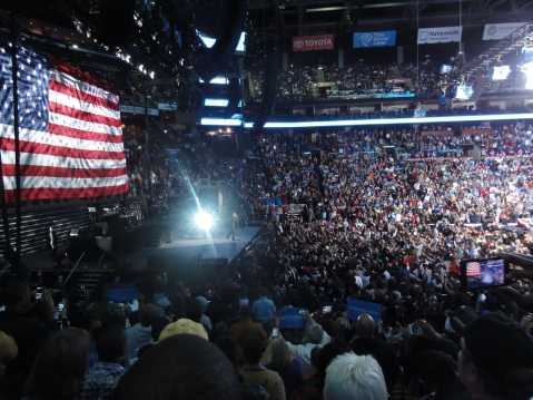 Jay-Z performs at Obama Pre-Election Rally 2012 in  Columbus, Ohio, w/ Bruce Springsteen, Image by Flickr User  Becker1999