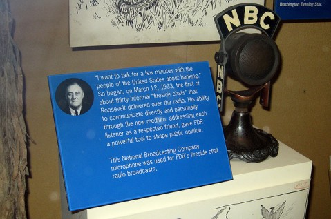 """Washington DC - National Museum of American History: Fireside Chat microphone"" by Flickr user Wally Gobetz, CC BY-NC-ND 2.0"