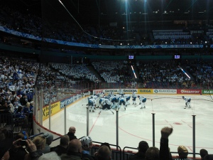 """Ice Hockey World Championships Finland-Belarus"" by Flickr user Chiva Congelado, CC BY-NC-SA 2.0"