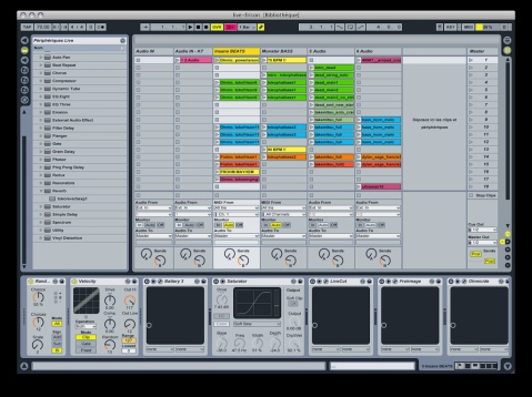A second performance screen capture by the same artist, this time using pre-recorded midi sequences, Image by Flickr User Furibond