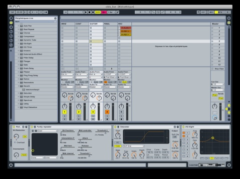 "Sample Screenshot from a performer's Ableton Live set up for an ""experimental and noisy performance"" with no prerecorded material, Image by Flickr User Furibond"