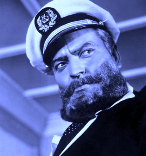 Orson Welles in Mr. Arkadin, 1955.