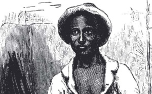 "Etching of Solomon Northrup ""in his Plantation Suit"" accompanying his 1853 Narrative"