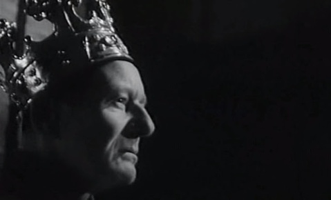 John Gielgud as King Henry IV in Orson Welles's Chimes at Midnight (1966)