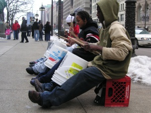 """""""Street Musicians, Chicago"""" by Flickr user Diana Schnuth, CC-BY-NC-2.0"""