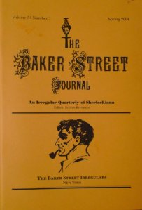 A recent edition of the Baker Street Journal.
