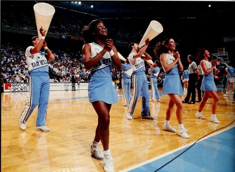 """Cheerleaders, UNC, 1989"" by Flickr user North Carolina Digital Heritage Center, CC BY-NC-ND 2.0"