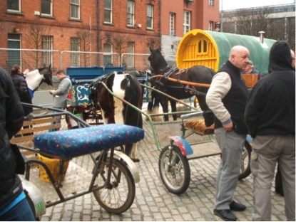 Displaying horse carriages