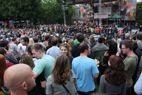 """""""KEXP Concerts at the Mural"""" by Flickr user Chelsea Nesvig, CC BY 2.0"""