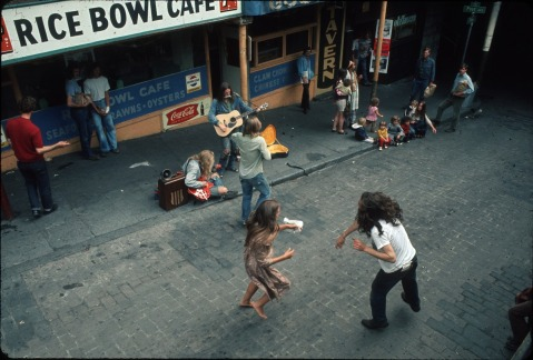 """Musicians and dancers at Pike Place Market, circa 1972"" by Flickr user Seattle Municipal Archives, CC BY 2.0"