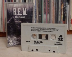 "R.E.M.'s 1983 LP release of ""Murmur"" on cassette"
