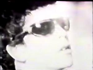 A still from a 1966 film of the Velvet Underground rehearsing by Rosalind Stevenson