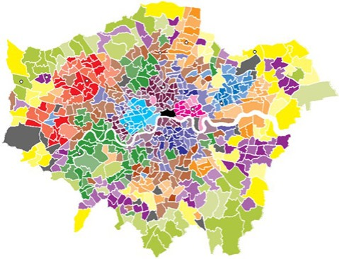12 Tones of London uses a statistical analysis to select 12 out of London's 623 council wards (not counting the City of London) in the hope that their sound profiles can be generalised across relatively large swathes of the capital. It makes central to the investigation demographic factors such as class, ethnicity and age.