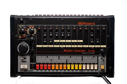 """1980 Roland TR-808"" by Flickr user Joseph Holmes, CC BY-NC-ND 2.0"