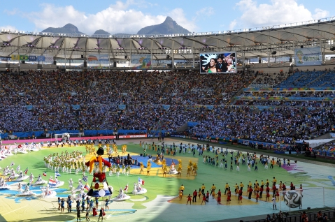 """Abschlussfeier Maracana Fifa WM 2014"" by Flickr user Marco Verch, CC BY 2.0"