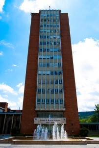 Bartle Library Tower, Binghamton University, Image by Flickr User johnwilliamsphd