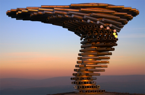 "Not all panopticons are in prisons. ""Singing Ringing Tree at Sunset,"" Dave Leeming CC BY."