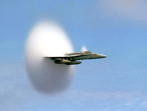 Sonic Boom! Borrowed from NASA's Goddard Space Flight Center @Flickr CC BY.