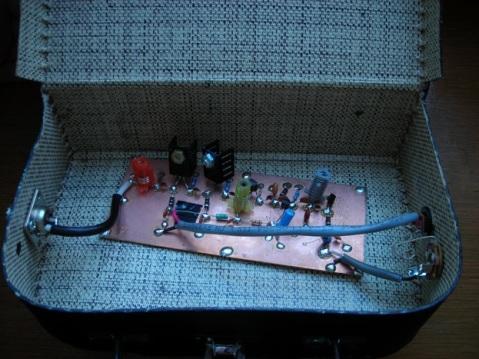 My first transmitter, built on the Tetsuo Kogawa model, as modified by Bobbi Kozinuk, 1998;