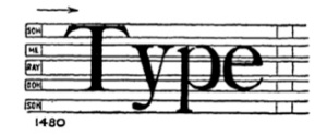 The word type, as scanned by the optophone.