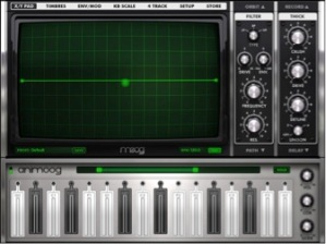 Animoog synthesis application