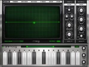 Animoog synthesis application