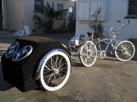 Lowrider Trike with Sound System, Image by George Garcia