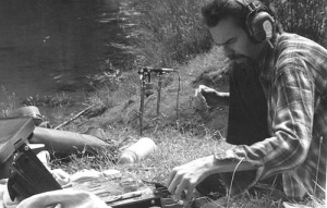 Bruce Davis recording in the field June 1974