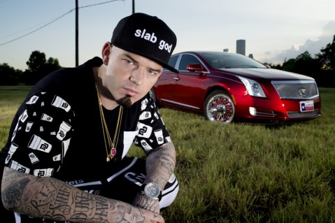 Paul Wall and the Houston Skyline, Photo by Mike Frost