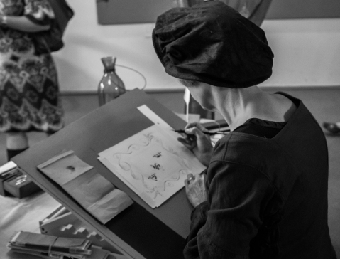 Image of a scribe by Nathan Adams @Flickr CC BY-NC-ND