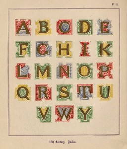 A medieval alphabet. Image by Cesar Ojeda @Flickr CC BY-NC-ND